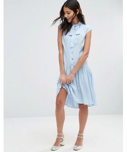 Closet London | Платье С Пуговицами И Горловиной На Завязке Closet