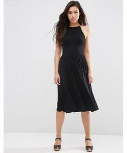 Asos | Платье Миди С Завышенной Талией