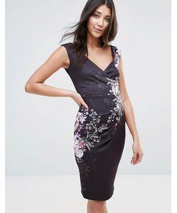 Jessica Wright | Платье-Футляр С V-Образным Вырезом И Цветочным Принтом