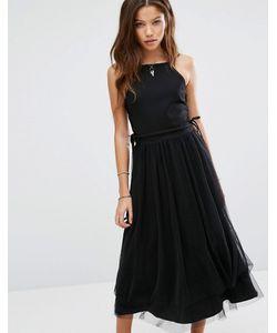 Moon River | Платье Со Шнуровкой По Бокам И Юбкой Из Тюля