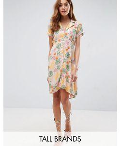 Vero Moda Tall | Чайное Платье С Цветочным Принтом