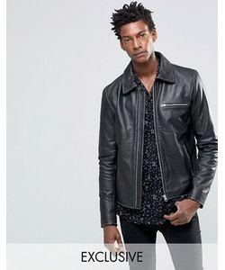 Black Dust | Черная Кожаная Куртка С Молниями