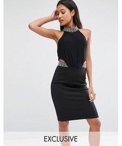 TFNC | Облегающее Платье Миди С Декоративной Отделкой