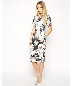 Asos | Платье С Фактурным Цветочным Принтом