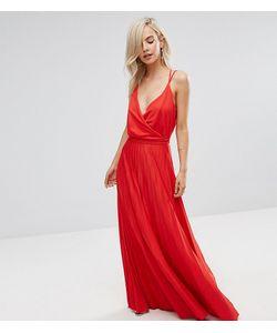 ASOS PETITE | Плиссированное Платье Макси С Запахом И Поясом