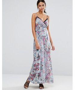 Uttam Boutique | Платье Макси На Бретельках С Вырезами И Цветочным Принтом