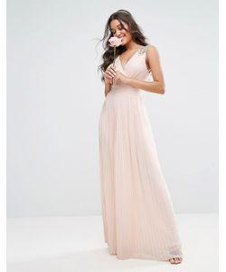 TFNC | Плиссированное Платье Макси С Декорированными Плечами Wedding