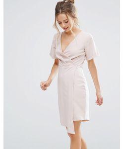 Closet London | Платье С Запахом И V-Образным Вырезом