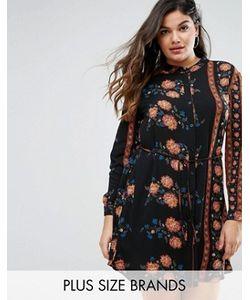 Boohoo Plus | Платье-Рубашка С Цветочным Принтом