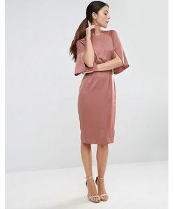 Asos | Атласное Платье С Разрезами На Рукавах
