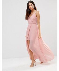 Adelyn Rae | Платье Макси С V-Образным Вырезом