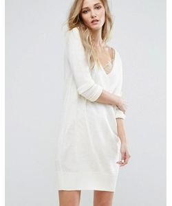 JDY | Вязаное Платье С Глубоким V-Образным Вырезом