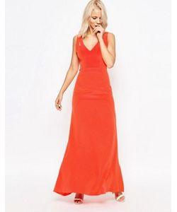 Suboo | Шелковое Платье Макси Tangerine