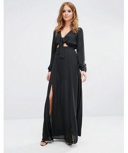 Millie Mackintosh | Платье Макси С Завязками Спереди
