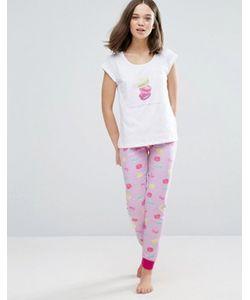 Loungeable | Пижама С Миндальными Пирожными