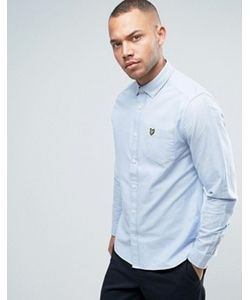 Lyle&Scott | Голубая Классическая Оксфордская Рубашка На Пуговицах С Логотипом-Орлом Lyle Scott