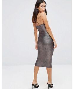 AX Paris | Платье Миди С Отделкой Металлик