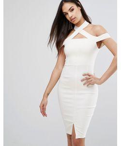 Vesper | Платье-Футляр С Открытыми Плечами И Разрезом