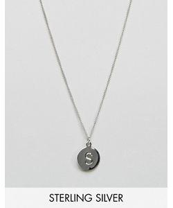 Fashionology   Серебряное Ожерелье С Инициалом S