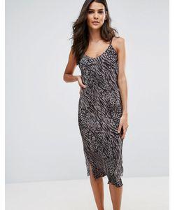 AX Paris | Облегающее Платье Миди С Боковыми Разрезами