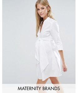 Isabella Oliver | Удлиненное Платьерубашка С Завязкой На Талии