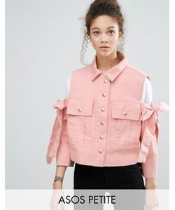 ASOS PETITE | Jacket With Bow Cold Shoulder