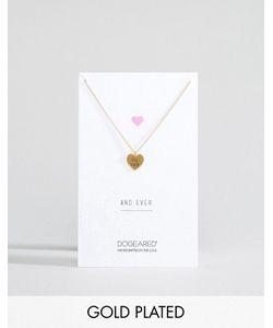 Dogeared | Позолоченное Ожерелье С Гравировкой For Ever На Подвеске-Сердце