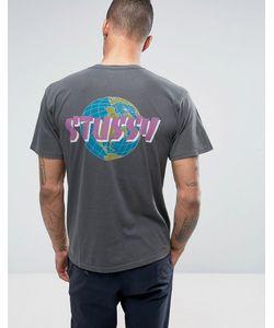 Stussy | Футболка С Принтом Global На Спине