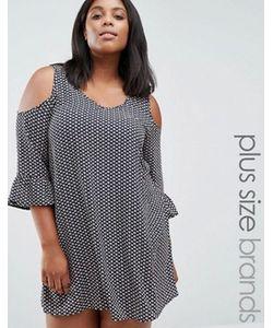 AX Paris | Платье С Открытыми Плечами И Оборкой На Рукавах Plus