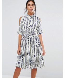 Closet London | Платье С Этническим Принтом И Завязкой Спереди Closet