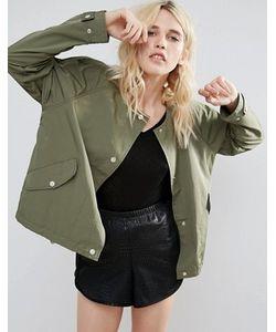 Parka London | Легкая Укороченная Куртка Без Воротника Siri