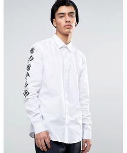 Systvm | Рубашка С Принтом На Рукавах