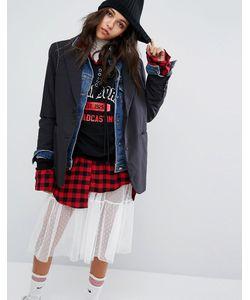 STYLE NANDA   Джинсовая Куртка Со Вставками Stylenanda