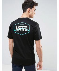 Vans | Черная Футболка С Принтом Va312zblk