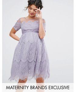 Chi Chi Maternity | Платье С Кружевным Топом И Юбкой Из Тюля Chi Chi London