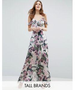 Vero Moda Tall | Платье Макси С Открытыми Плечами И Цветочным Принтом