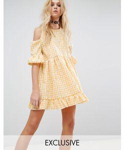 Milk It | Платье С Вырезами На Плечах И Цветочным Принтом Vintage