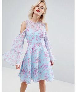 Horrockses | Шифоновое Платье Миди С Цветочным Принтом