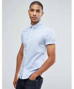 Asos | Синяя Приталенная Рубашка
