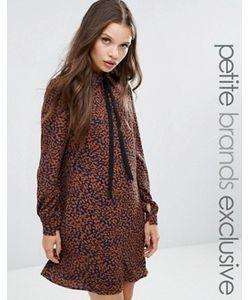 Fashion Union Petite   Платье С Леопардовым Принтом И Шарфом Diana