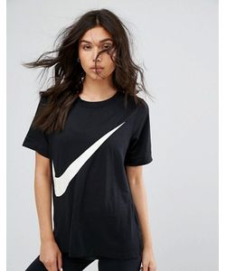 Nike | Черная Футболка С Логотипом-Галочкой