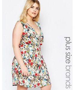 Yumi Plus   Платье С Запахом И Летним Цветочным Принтом