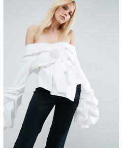 ASOS WHITE   Рубашка С Запахом