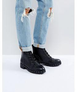 Aldo | Кожаные Ботинки С Заклепками И Шнуровкой Cirien