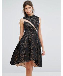 FOREVER UNIQUE | Короткое Приталенное Платье Из Кружева