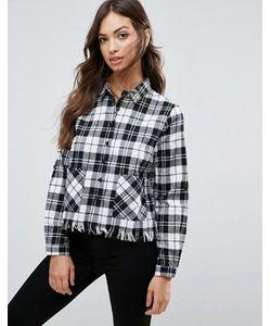 Influence | Укороченная Рубашка С Необработанным Краем