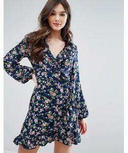 Qed London | Платье С Запахом И Оборкой