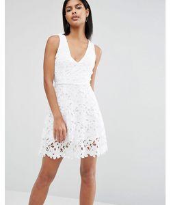 AX Paris | Короткое Приталенное Платье С Отделкой Кроше