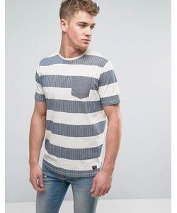 Brave Soul | Wide Slub Herringbone Stripe T-Shirt