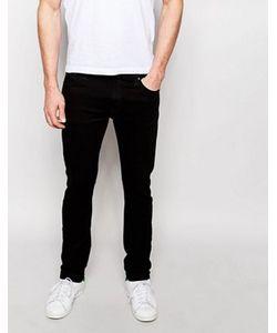 Nudie Jeans Co | Черные Джинсы Скинни Tom